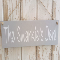 Personalised Outdoor Wooden Garden Sign